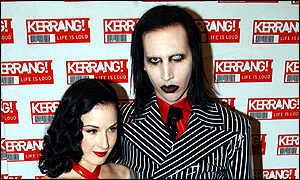 Marilyn Manson, right, arrived with Dita Von Tesse