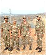 South African soldiers guard the border