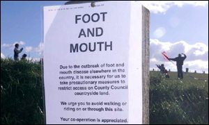 foot-and-mouth warning