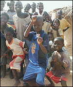 Refugee kids at Mauritania camp in Senegal
