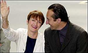 Tessa Jowell with Juan Mu�oz