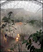 Inside bio-dome BBC