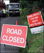 Road Closed signs into Catton and Allendale