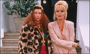 Edina (Jennifer Saunders) and Patsy (Joanna Lumley)