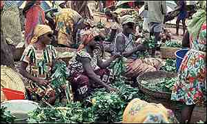 Nigerian market place