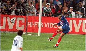 France's David Trezeguet scored the winning golden goal in the Euro 2000 final