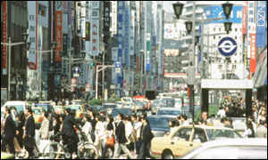 Ginza - Tokyo's main shopping district