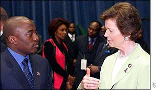 DR Congo President Joseph Kabila and UN High Commissioner for Human Rights Mary Robinson