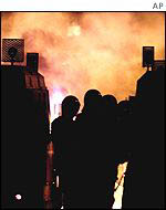 Rioting youths in Ardoyne earlier this year