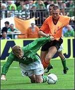 Damien Duff and Kevin Hofland