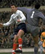 Jimmy Greaves in action for England