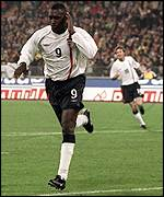 Emile Heskey has improved under Eriksson