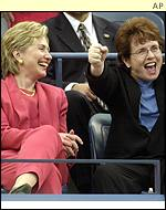 Hilary Clinton and Billie Jean King