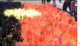 'Sea of Hands' protest