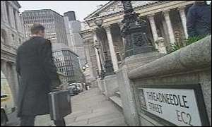 City worker near Bank of England