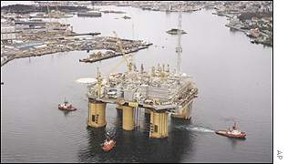 Norwegian gas platform