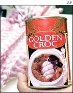 Stewed crocodile meat