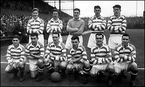 Bobby Evans (back row, second from left) as a Celtic player