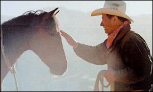 Monty Roberts with horse