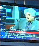 Rhodri Morgan on an American financial news network