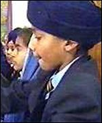children at Guru Nanak Sikh school