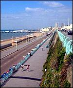 The seafront at Brighton