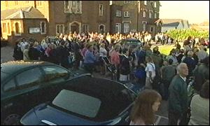 Protest outside St Mary's School