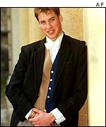 Prince William at school