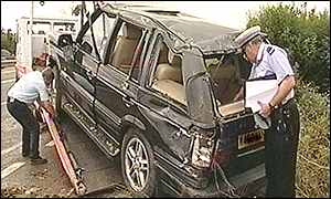 Range Rover involved in accident