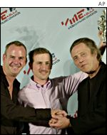 Fatboy Slim, director Spike Jonze, and actor/dancer Christopher Walken