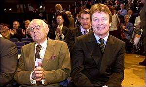 Sir Denis Thatcher with Jim Davidson at last year's Conservative Party conference