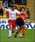 David Hannah tackles Barry Wilson