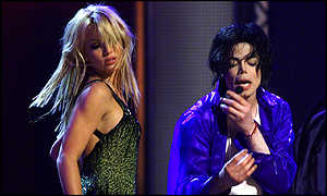 Britney Spears and Jackson at the reunion concert