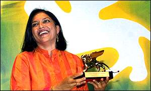 Mira Nair accepts her award