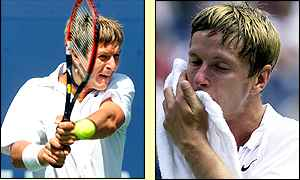 Yevgeny Kafelnikov loses out to Lleyton Hewitt