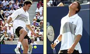 Marat Safin loses control during his match with Pete Sampras