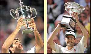 Sampras lost in the 1996 Wimbledon final to Richard Krajicek, but carried on winning elsewhere