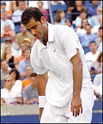 Pete Sampras during his final with Lleyton Hewitt