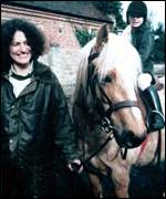 Lin and Megan Russell with horse