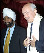 Ranbir Singh Guri and Iain Duncan Smith at a meeting of Asian Conservatives