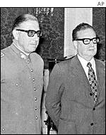 General Pinochet and Salvador Allende