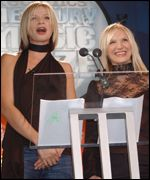 Zoe Ball and Jo Wiley