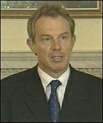Tony Blair said Britian would stand