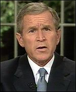 George W Bush addresses the nation