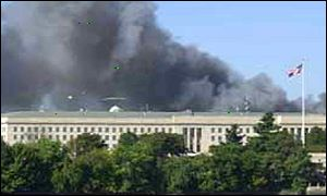The Pentagon was also hit - by some sort of aircraft - minutes after the World Trade Center explosions