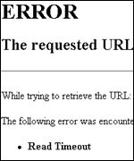 Browser error message