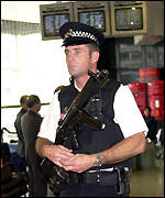 Police officer at Heathrow