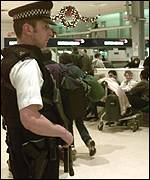 UK armed airport policeman