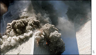 World Trade Center tower collapses