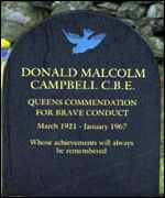 Donald Campbell's headstone